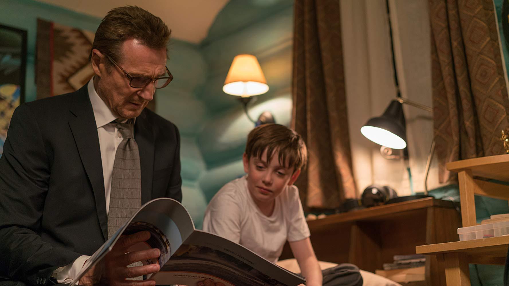 Un uomo tranquillo: Liam Neeson durante una scena