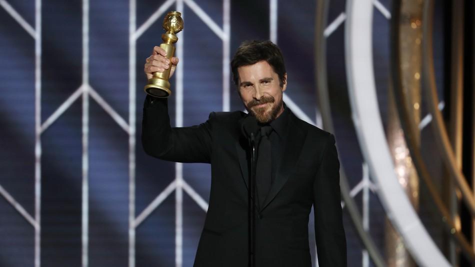 Christian Bale ai Golden Globes 2018