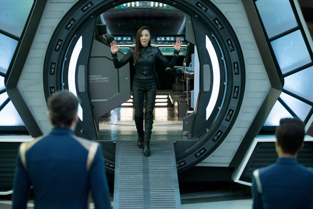 Stark Trek Discovery: Michelle Yeoh in una scena dell'episodio Saints of Imperfection