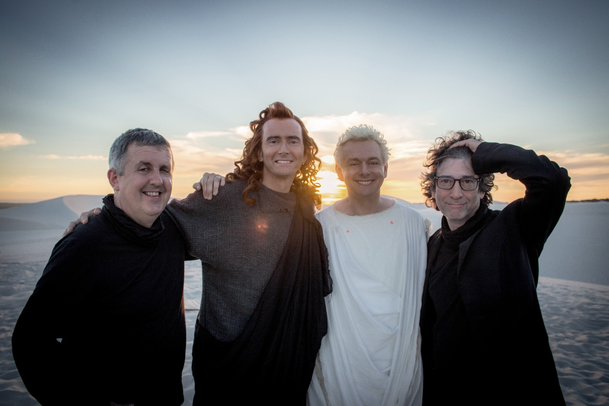 Good Omens: Michael Sheen, David Tennant, Neil Gaiman e Douglas Mackinnon