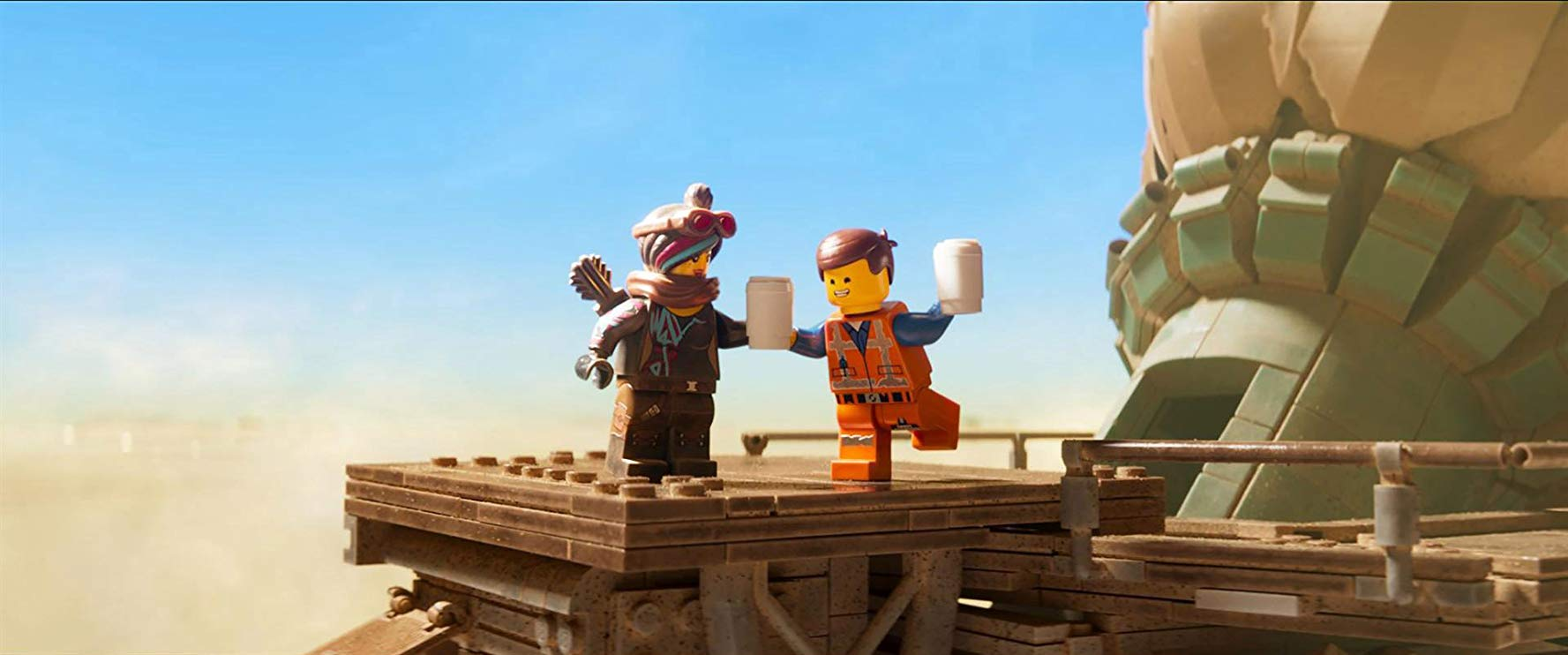 The Lego Movie 2: Una nuova avventura: Emmet e Wyldstyle in una scena