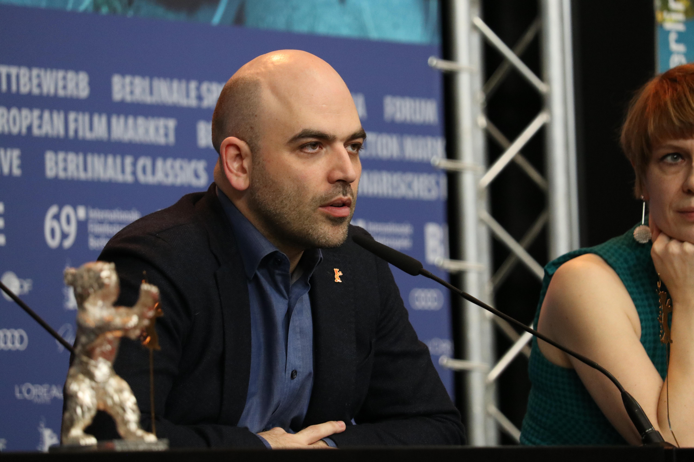 Berlino 2019: Roberto Saviano alla conferenza di premiazione