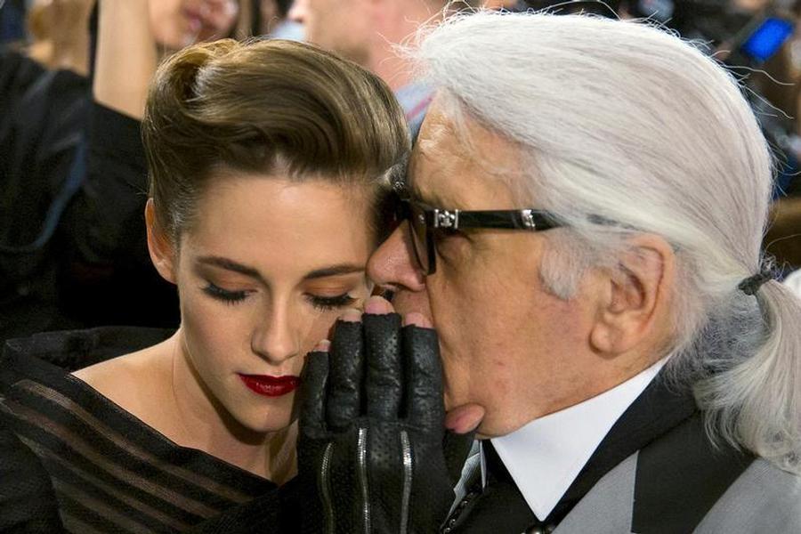 Karl Lagerfeld con Kristen Stewart