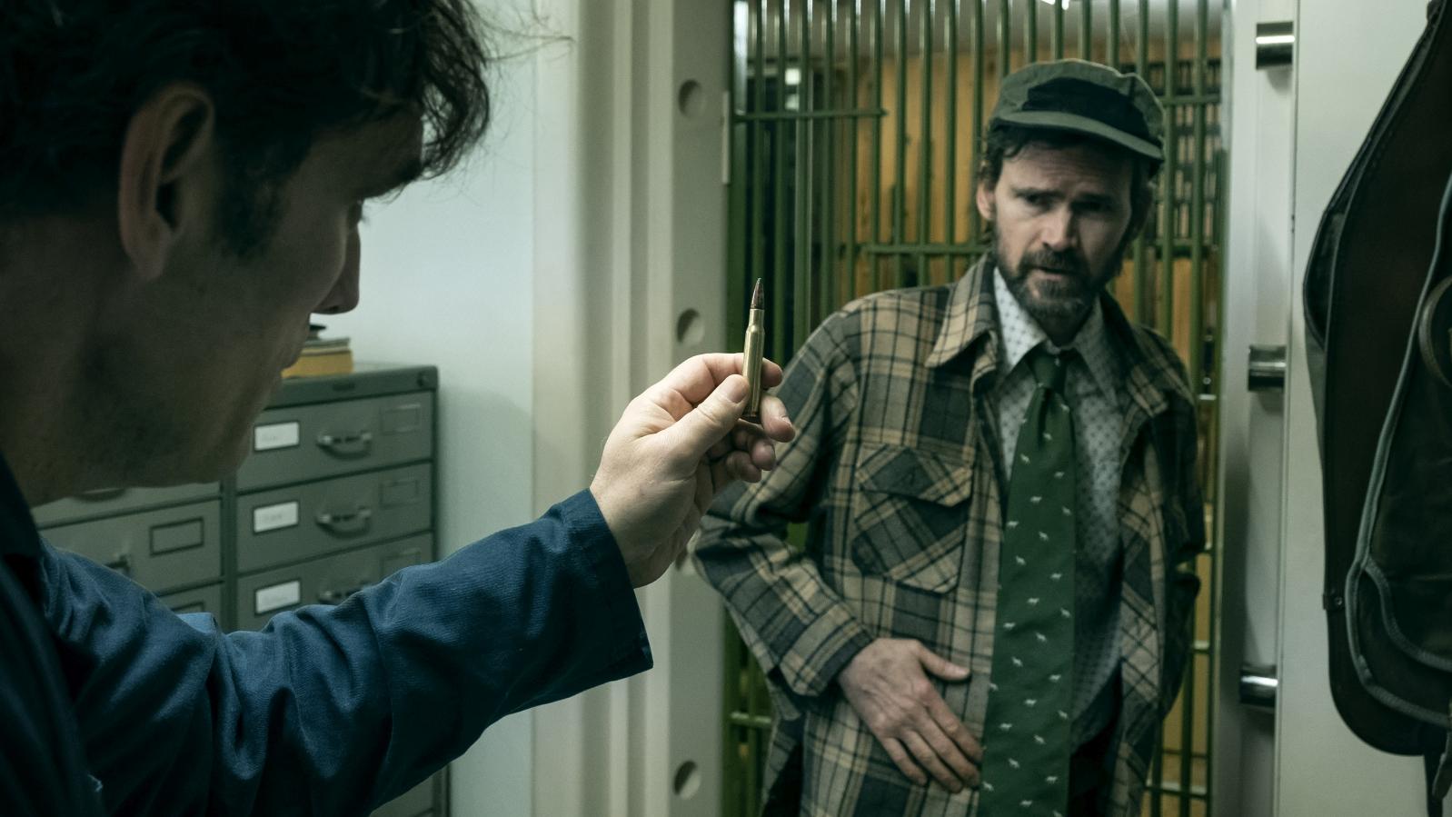 La casa di Jack: Matt Dillon e Jeremy Davies in una scena