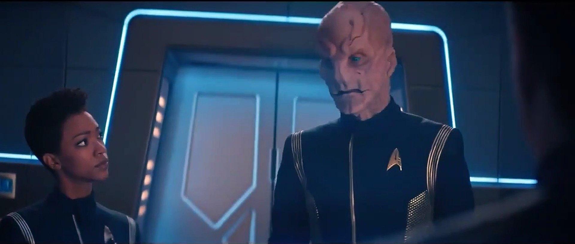 Stark Trek Discovery: Doug Jones durante una scena nell'episodio The Sounds of Thunder