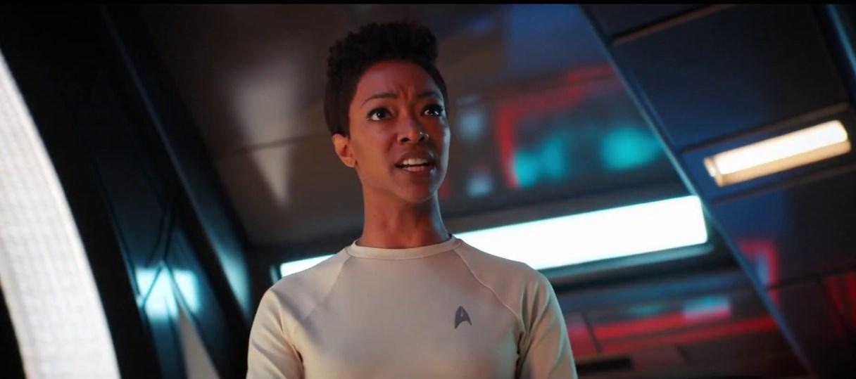 Stark Trek Discovery: Sonequa Martin in una scena nell'episodio The Sounds of Thunder