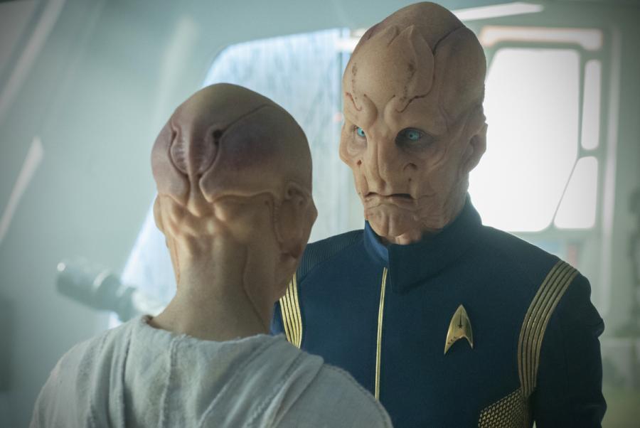 Stark Trek Discovery: Doug Jones in una scena nell'episodio The Sounds of Thunder