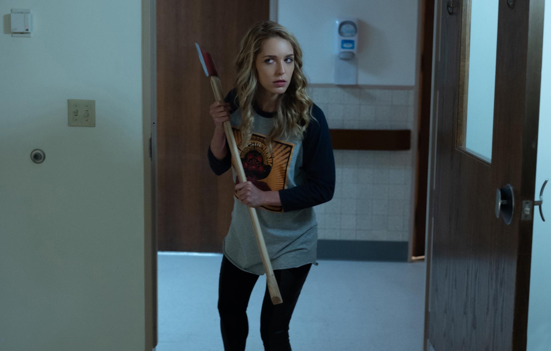 Ancora auguri per la tua morte: Jessica Rothe  in una scena del film