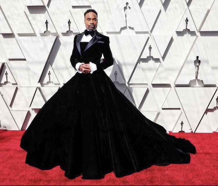 Billy Porter agli Oscar 2019 sul red carpet