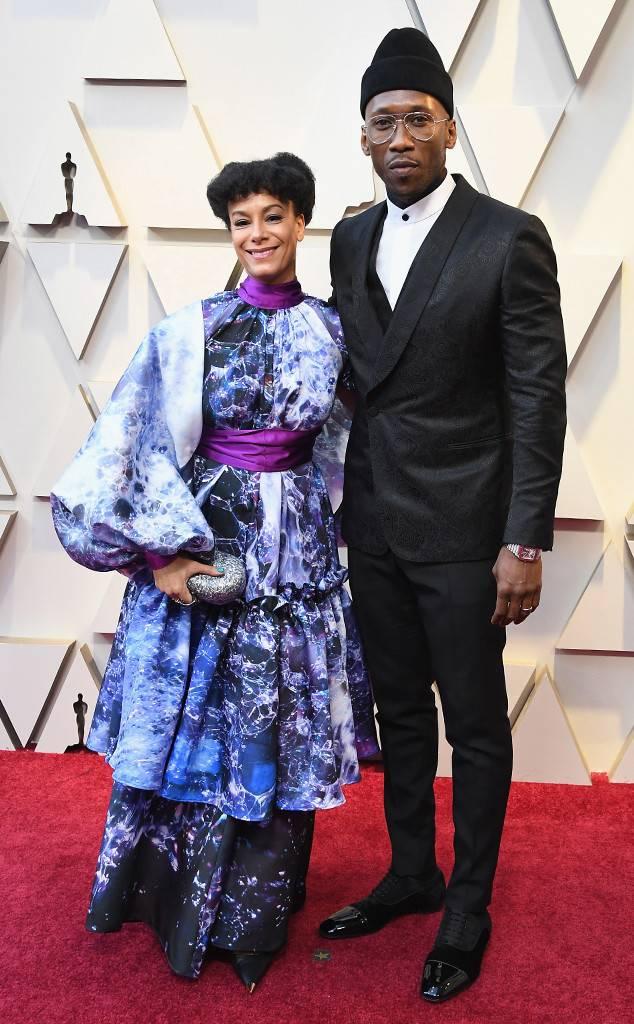 Red Carpet Oscar 2019: Mahershala Ali con sua moglie
