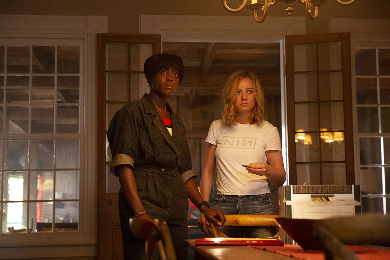 Captain Marvel: Brie Larson e Lashana Lynch in una scena