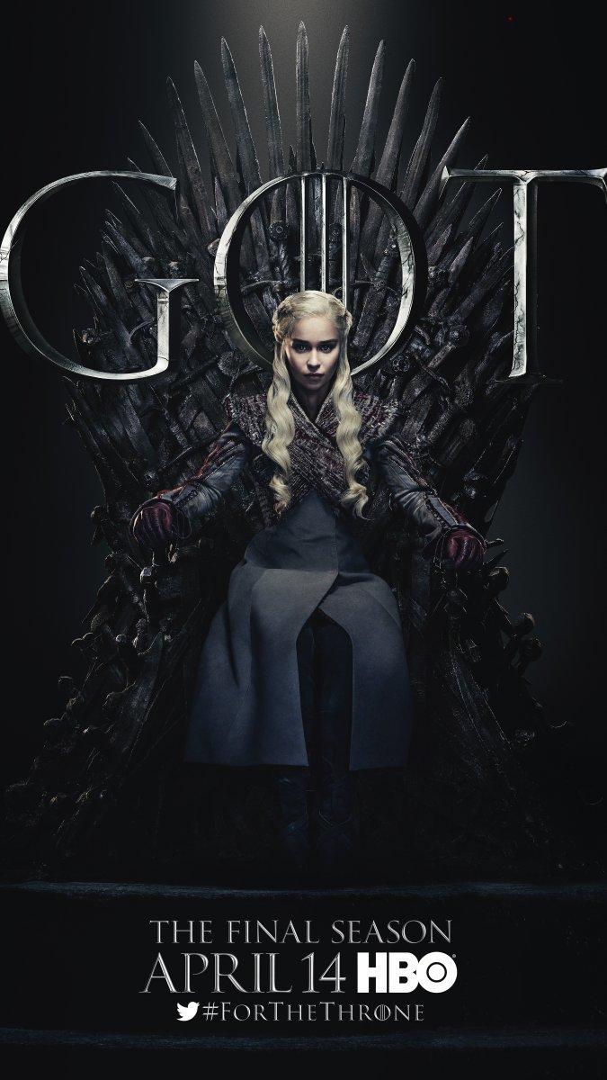 Il trono di spade: Emilia Clarke nel character poster per l'ottava e ultima stagione