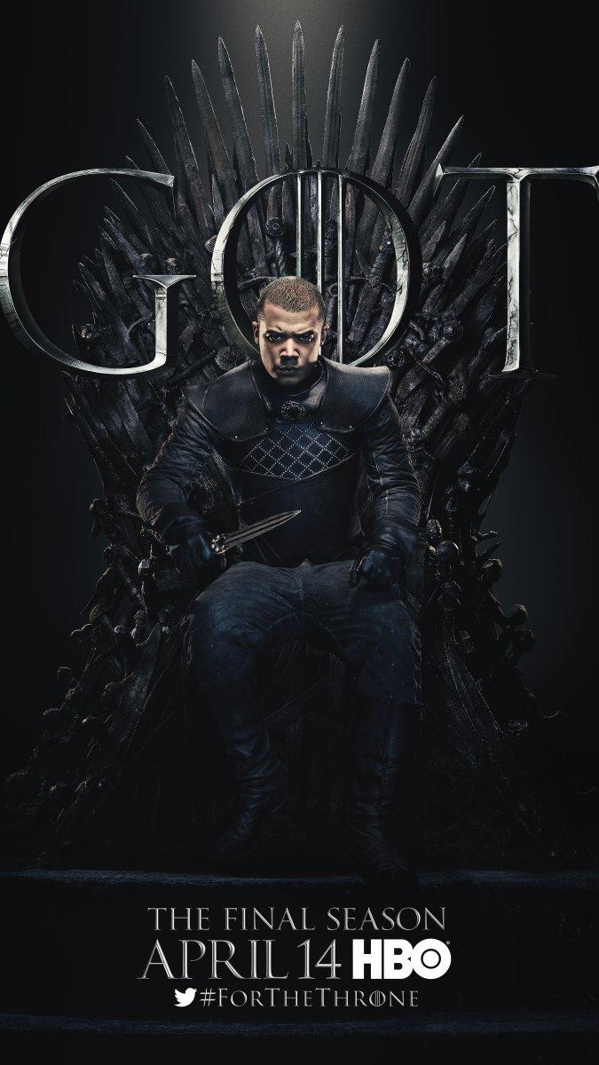 Il trono di spade: Jacob Anderson nel character poster per l'ottava e ultima stagione
