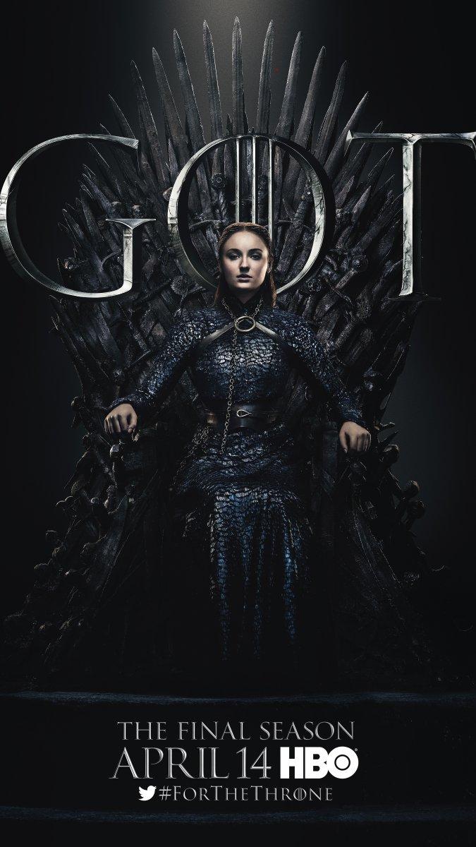 Il trono di spade: Sophie Turner nel character poster per l'ottava e ultima stagione