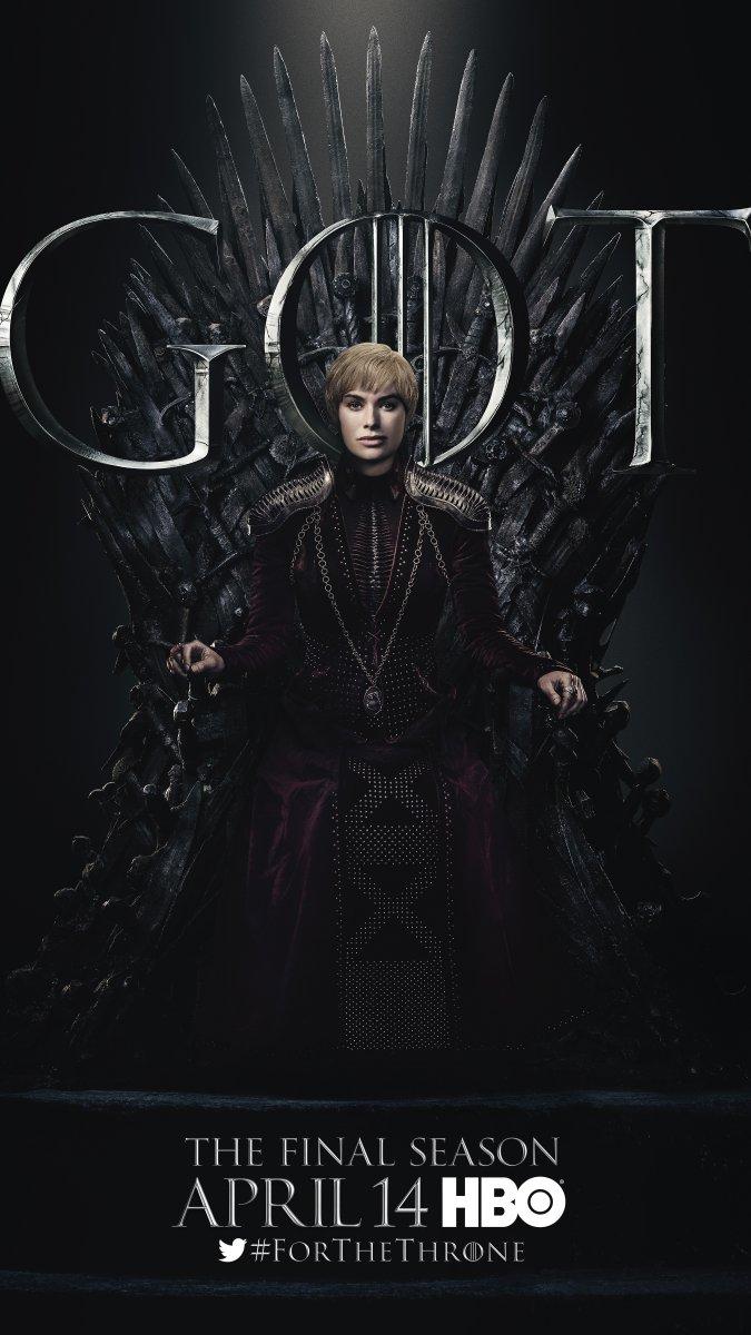 Il trono di spade: Lena Headey nel character poster per l'ottava e ultima stagione
