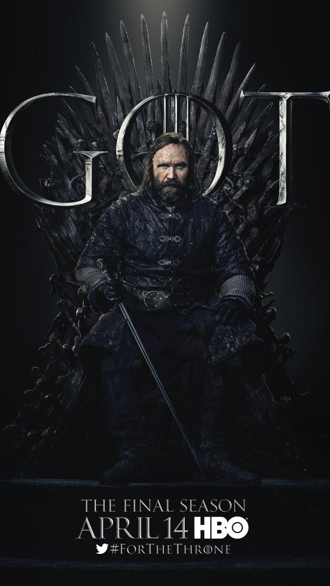 Il trono di spade: Rory McCann nel character poster per l'ottava e ultima stagione