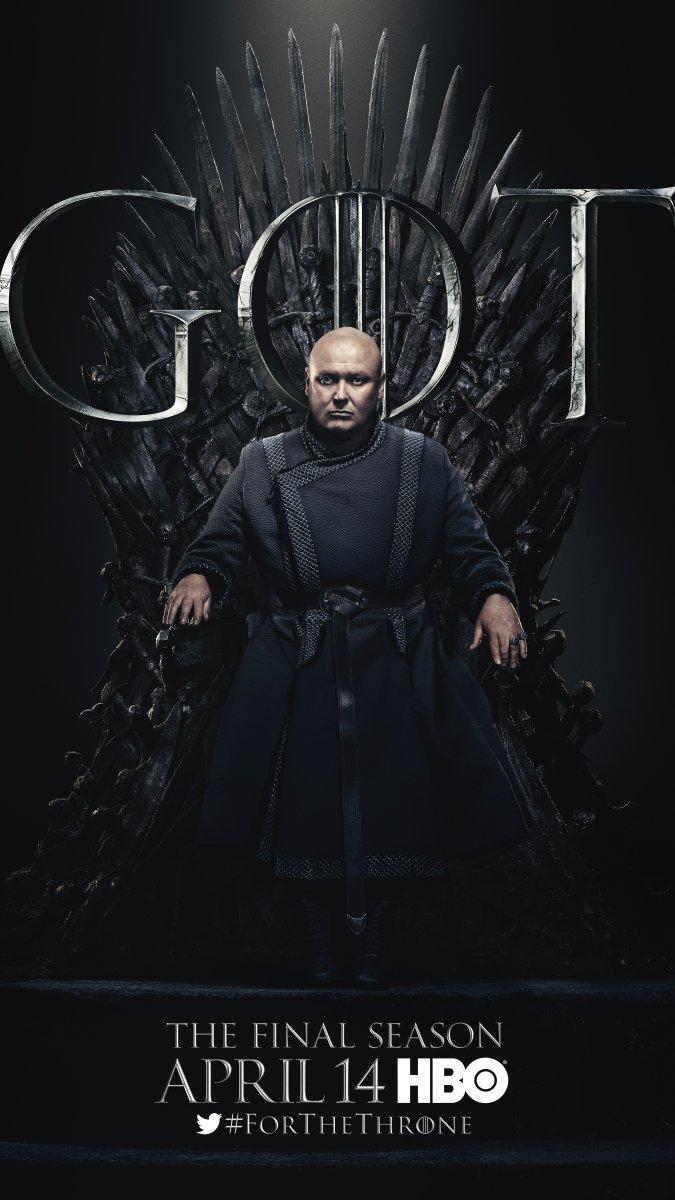 Il trono di spade: Conleth Hill nel character poster per l'ottava e ultima stagione