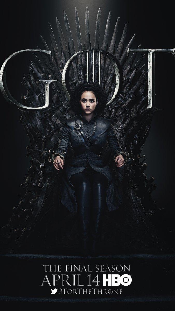 Il trono di spade: Nathalie Emmanuel nel character poster per l'ottava e ultima stagione