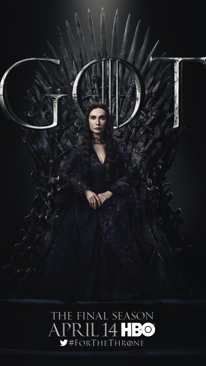 Il trono di spade: Carice van Houten nel character poster per l'ottava e ultima stagione