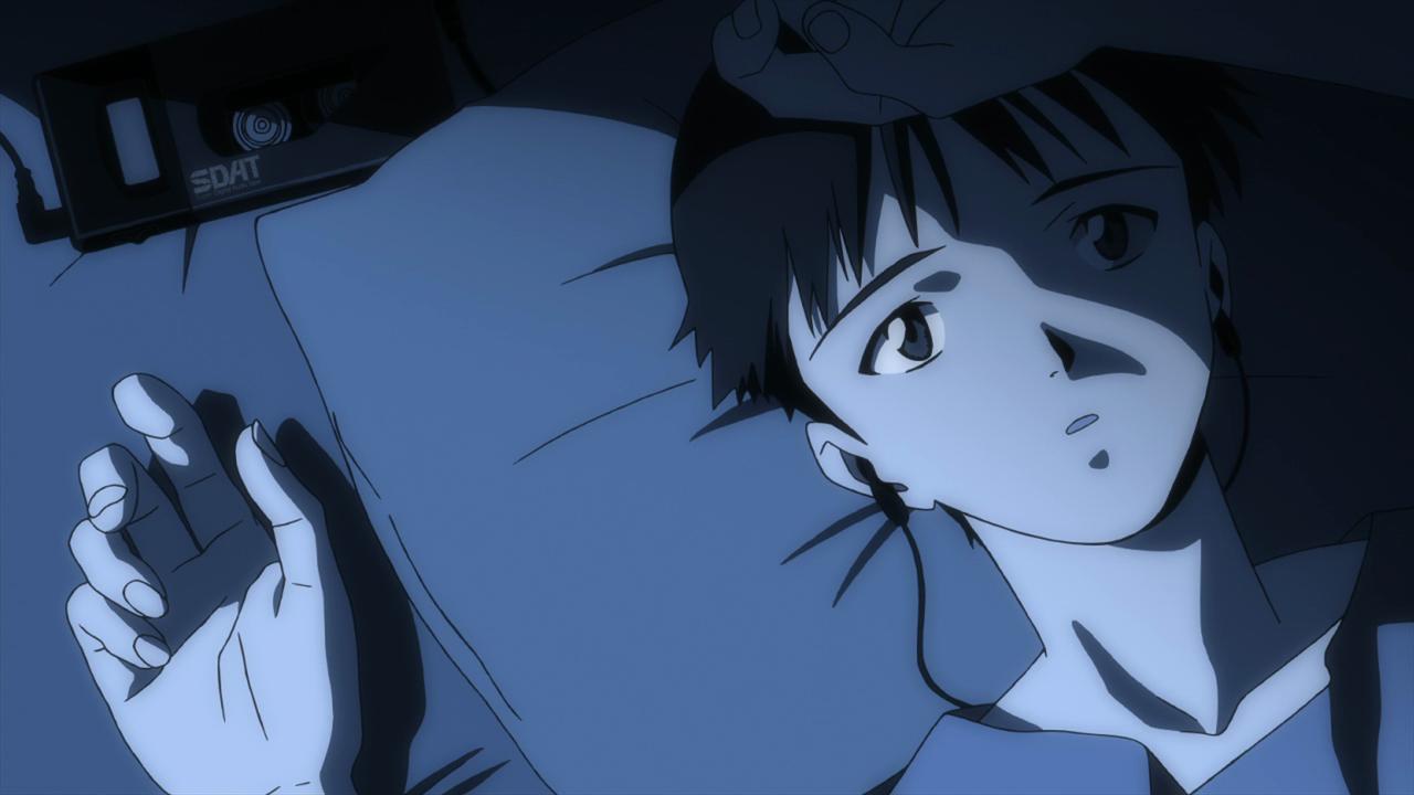 Neon Genesis Evangelion: Shinji in una scena