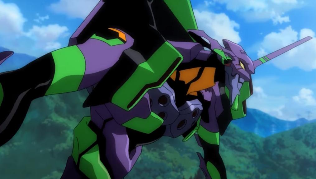 Neon Genesis Evangelion: l'Eva 01 in azione