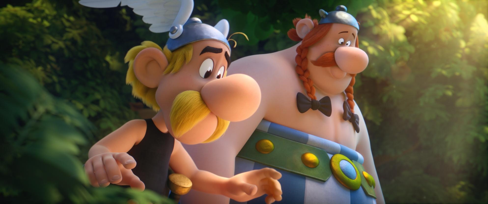 Asterix e il segreto della pozione magica: Asterix e Obelix in una scena