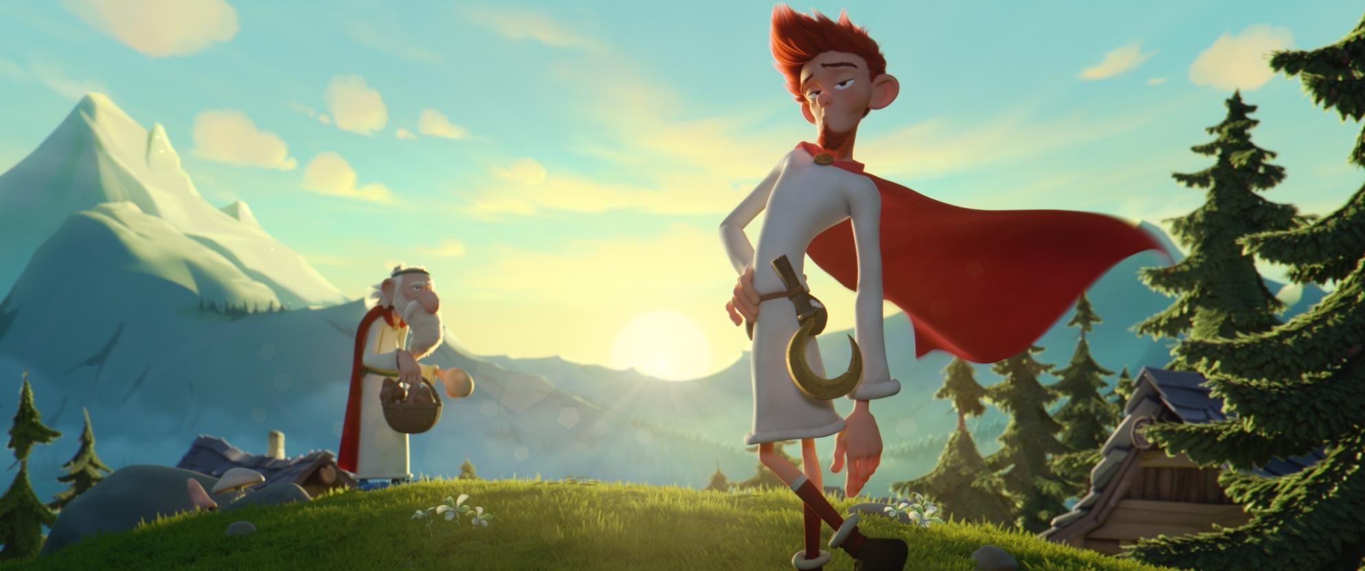 Asterix e il segreto della pozione magica: una scena del film d'animzione