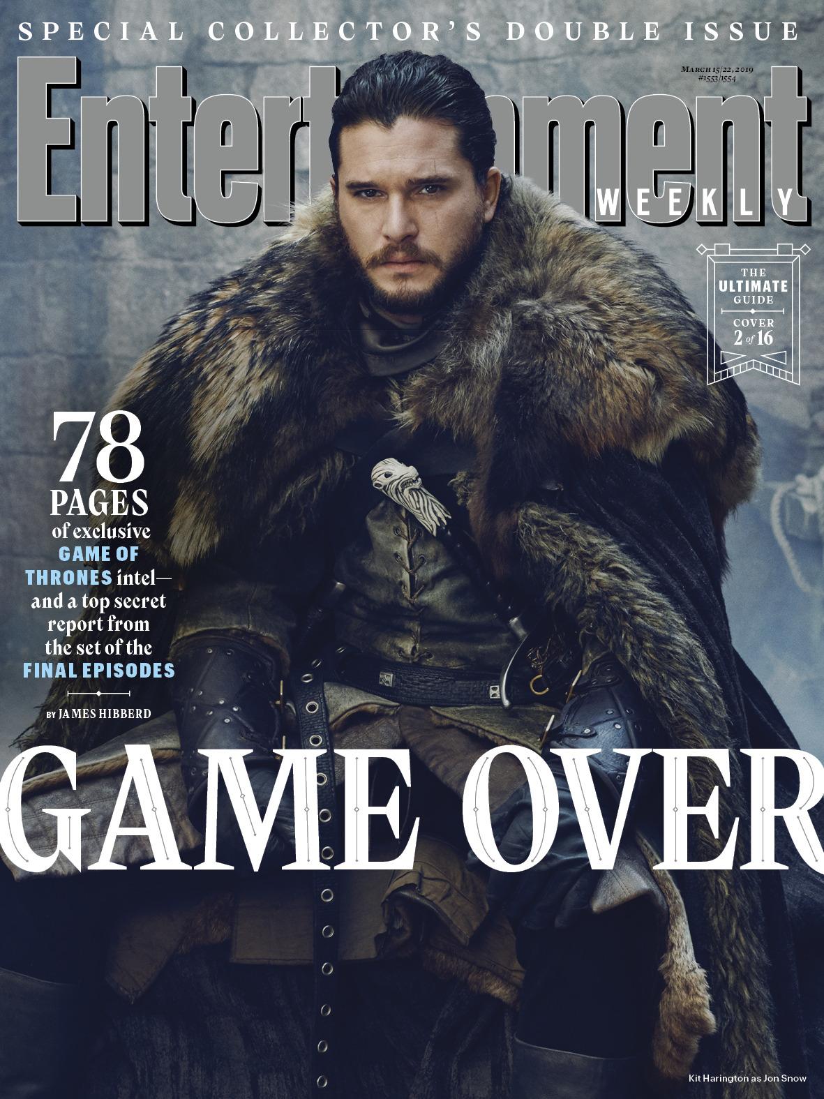 Il Trono di Spade 8: Jon Snow sulla copertina di EW