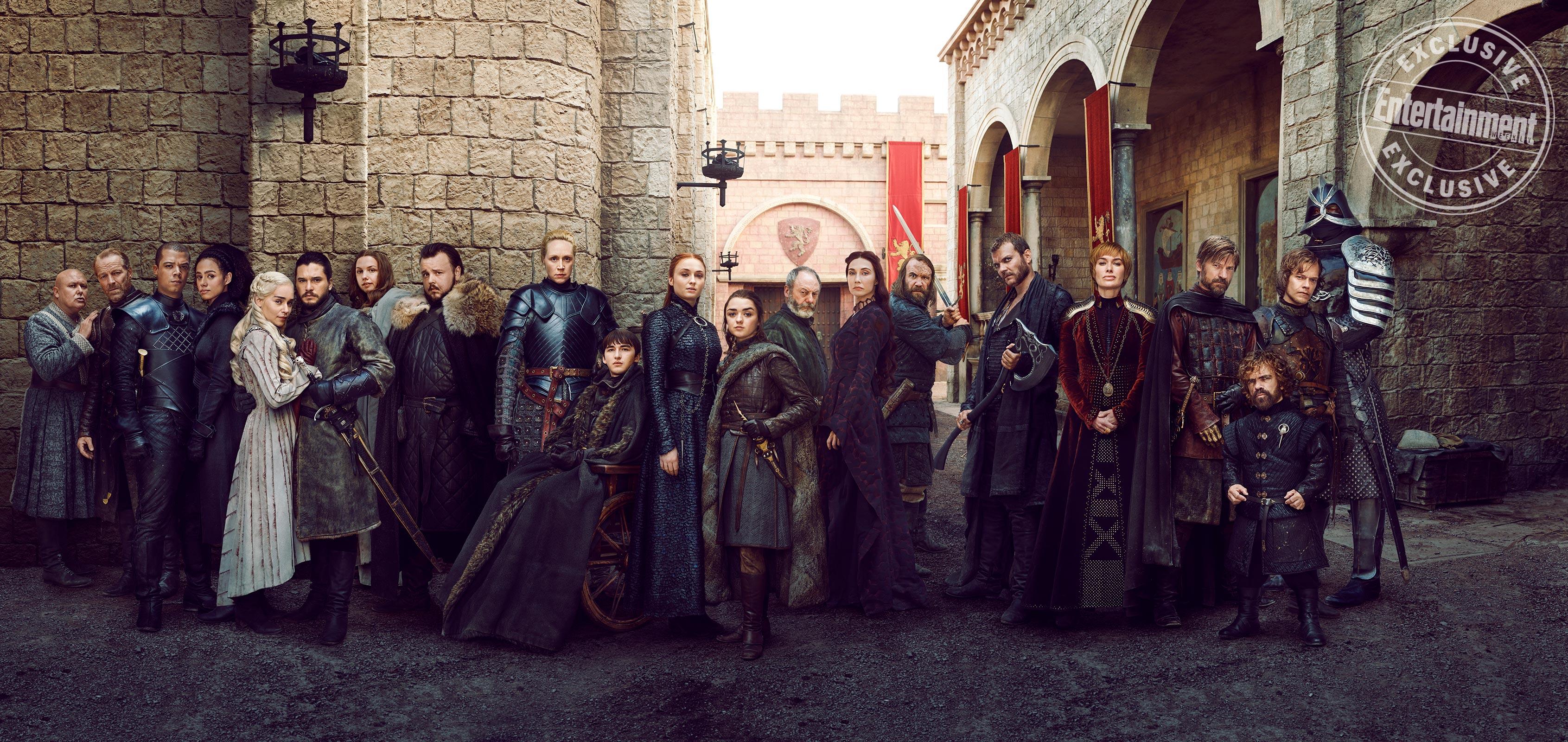 Il Trono di Spade 8: i protagonisti riuniti in una nuova foto