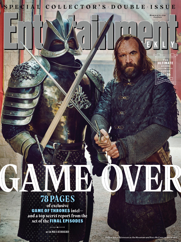 Il Trono di Spade 8: la Montagna e il Mastino sulla copertina di EW