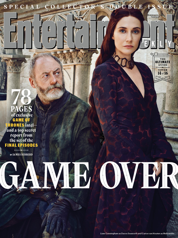 Il Trono di Spade 8: Davos e Melisandre sulla copertina di EW