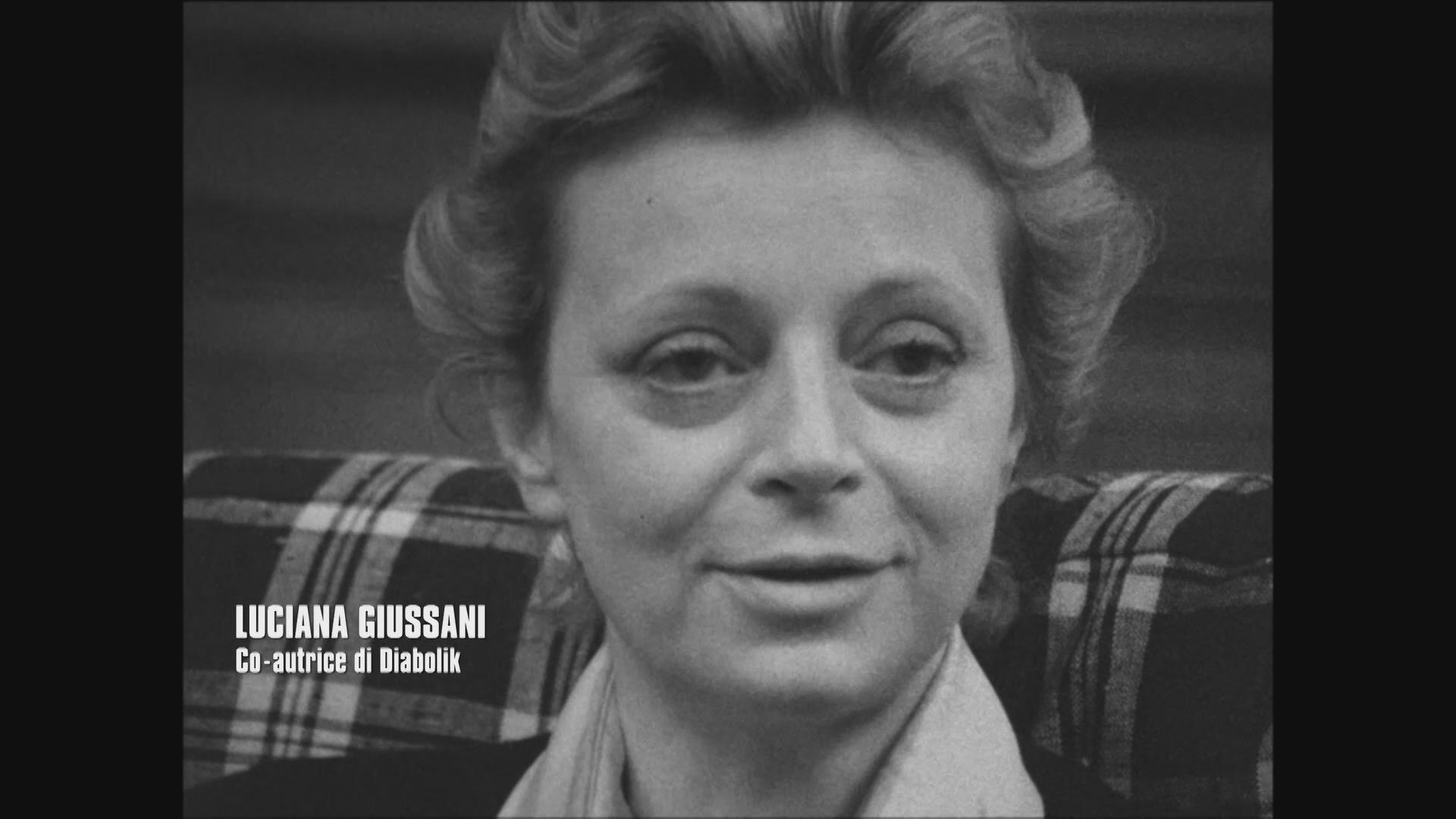 Diabolik: Luciana Giussani in una scena del documentario
