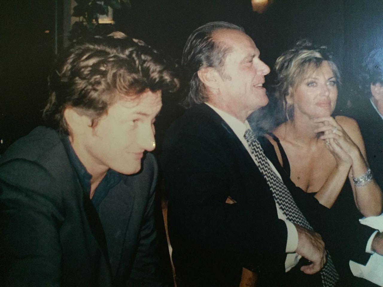 Sean Penn, Dalila Di Lazzaro e Jack Nicholson