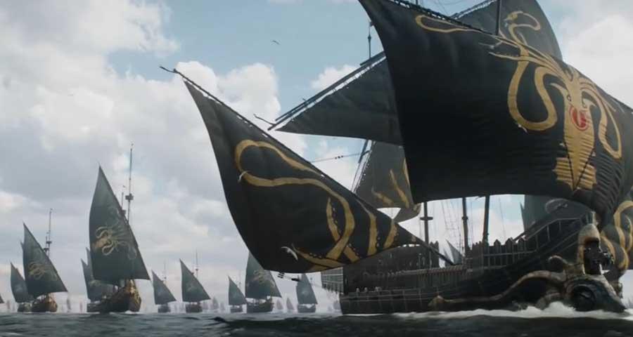 Il trono di spade, stagione 8: un'immagine della premiere di stagione, Winterfell