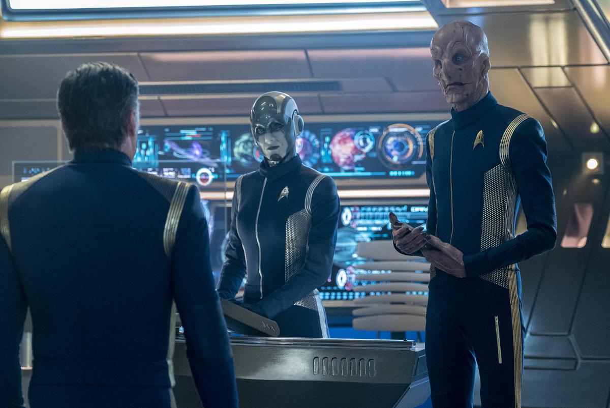 Star Trek: Discovery, Doug Jones e Hannah Cheesman in una scena dell'episodio If Memory Serves