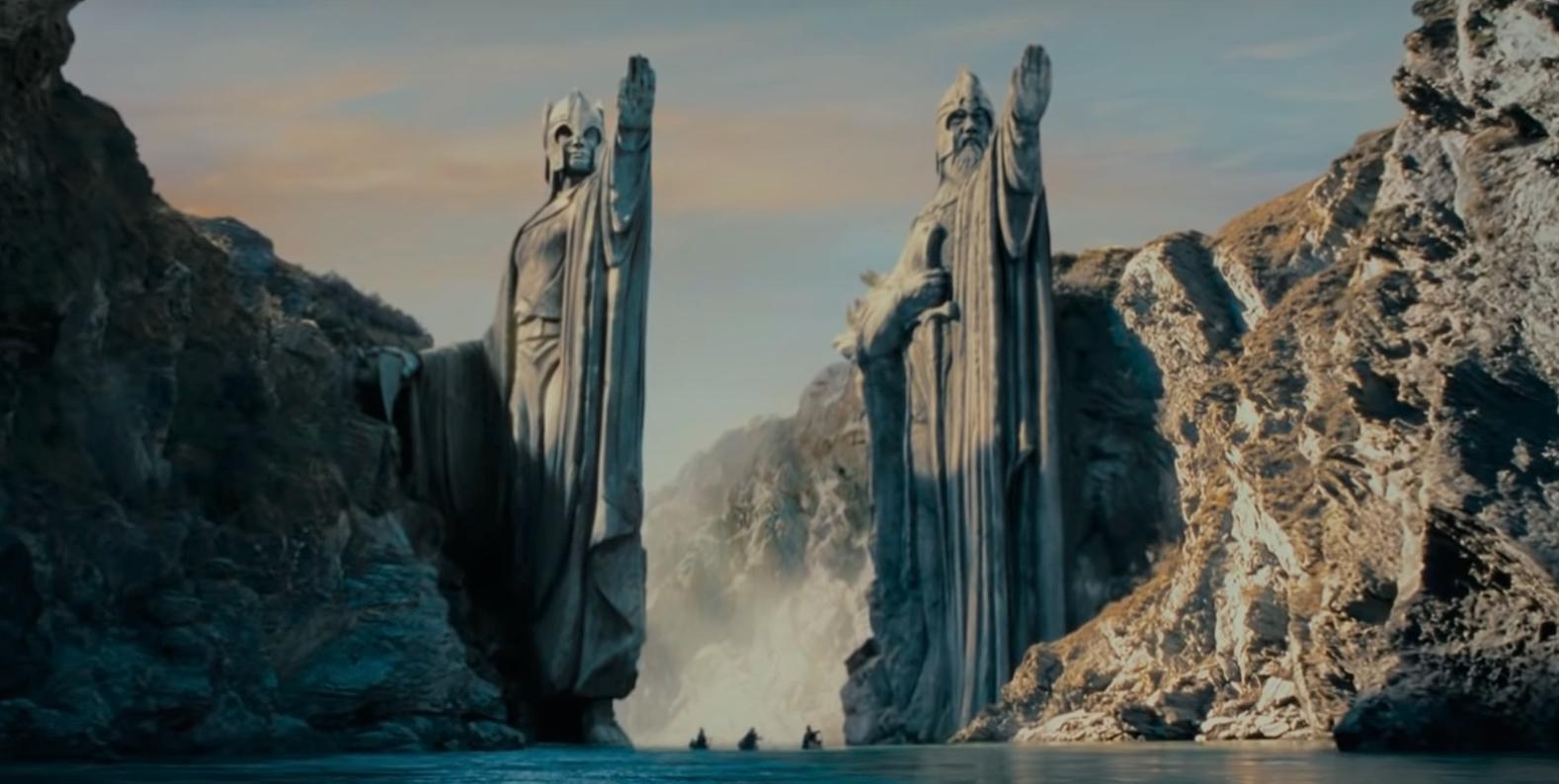 Il signore degli anelli: gli Argonath