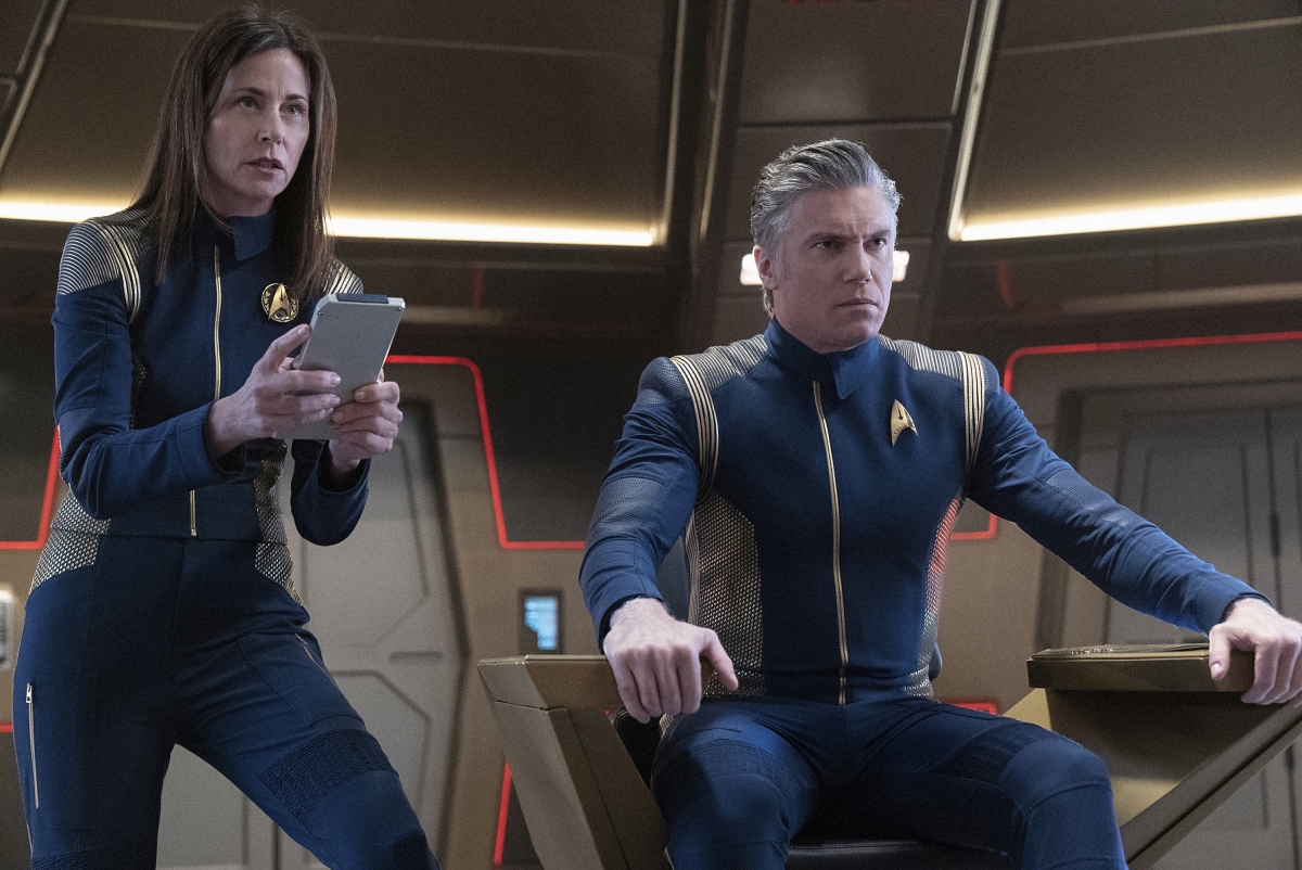 Star Trek: Discover, Anson Mount in una scena dell'episodio Project Daedalus