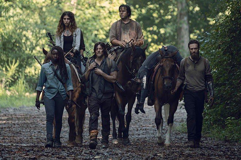 The Walking Dead: un momento dell'episodio Scars