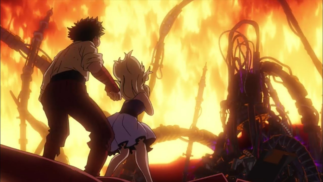 My Hero Academia the Movie: Two Heroes; una scena d'azione