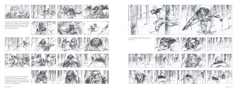 Il Trono di Spade: un'immagine del libro dedicato agli storyboard