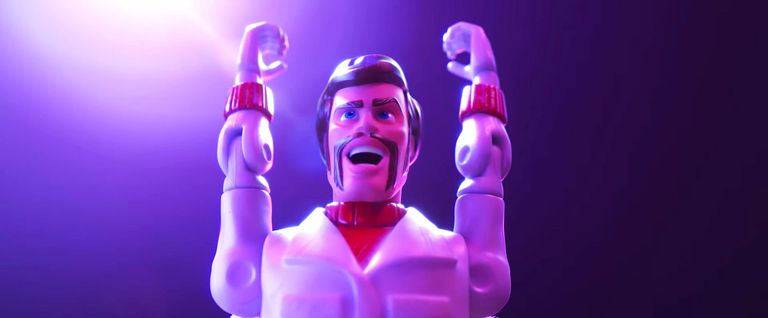Tory Story 4: un'immagine di Duke Caboom, doppiato da Keanu Reeves