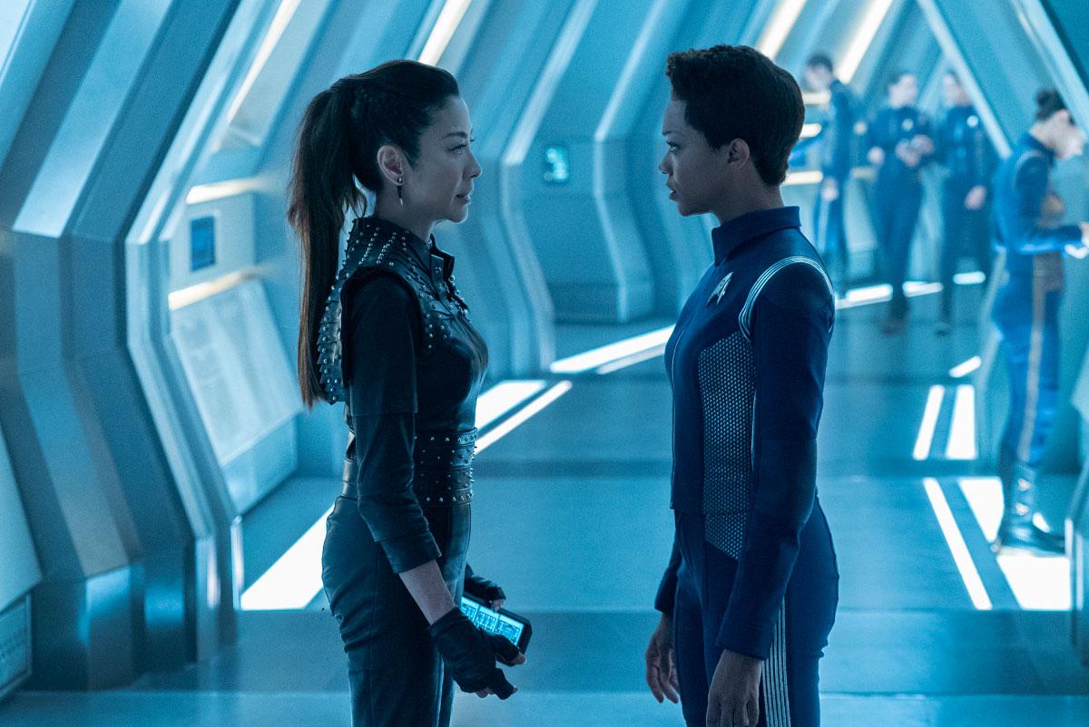 Star Trek Discovery: Michelle Yeoh e Sonequa Martin-Green nell'episodio The Red Angel