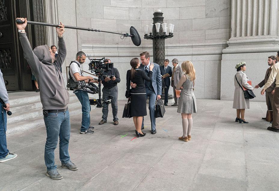 Una giusta causa: Felicity Jones e Armie Hammer sul set