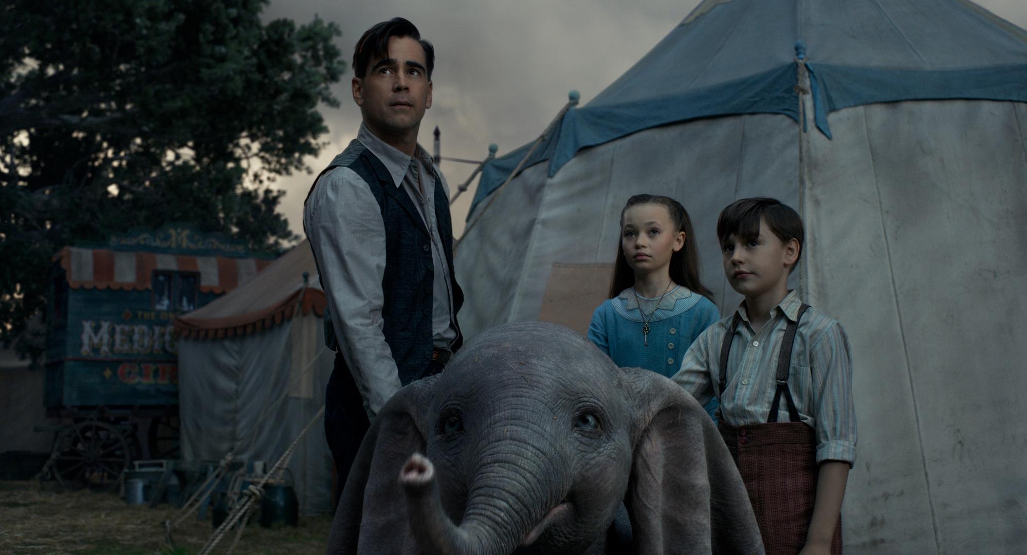 Dumbo: Colin Farrell in una scena del film