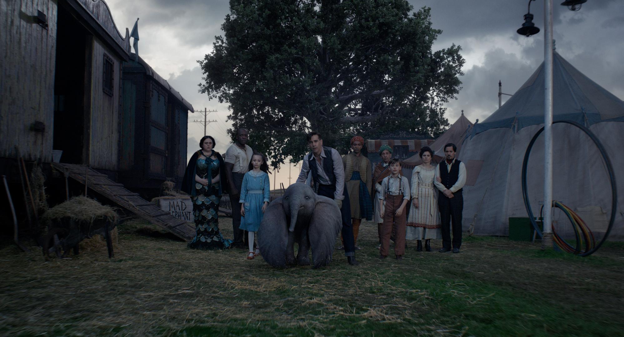 Dumbo: una scena con Colin Farrell