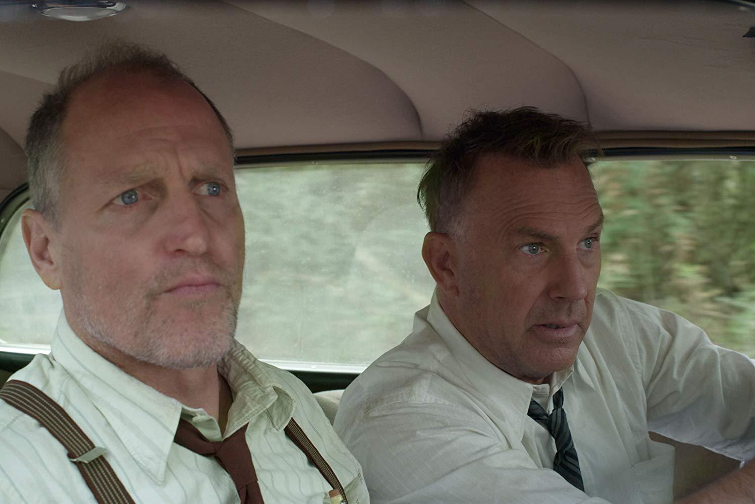 Highwaymen - L'ultima Imboscata: Kevin Costner e  Woody Harrelson in una scena