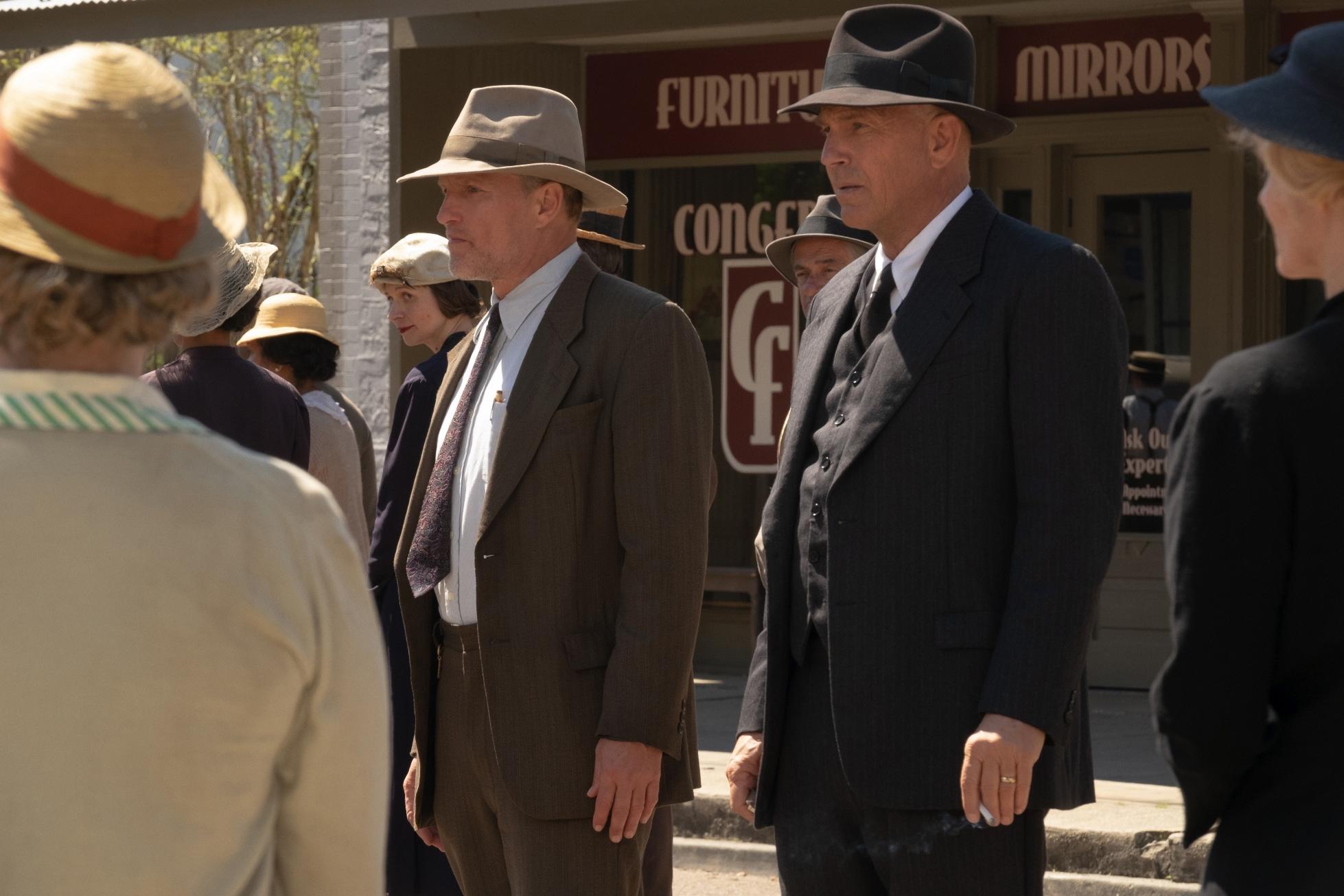 Highwaymen - L'ultima Imboscata: Kevin Costner,  Woody Harrelson in una scena