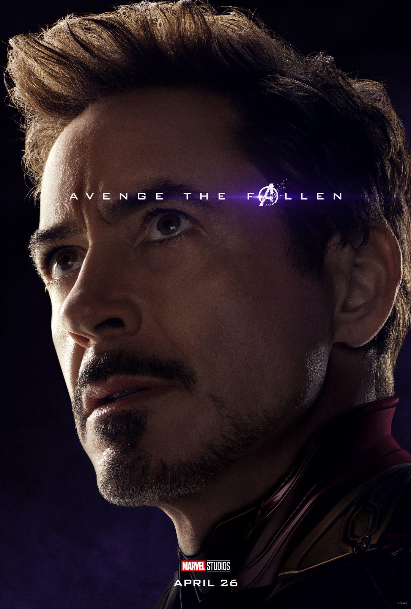 Avengers: Endgame, il character poster di Tony Stark