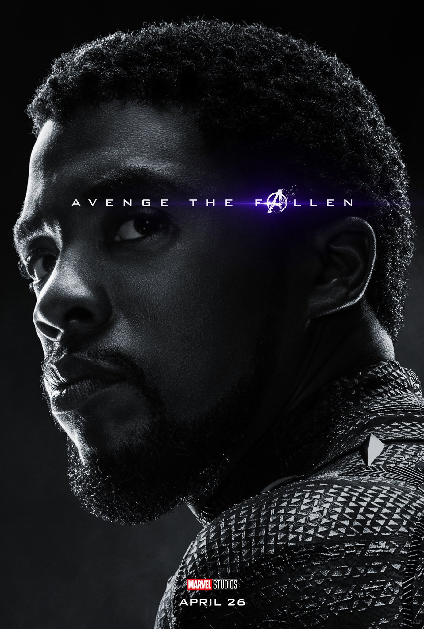 Avengers: Endgame, il character poster di Black Panther