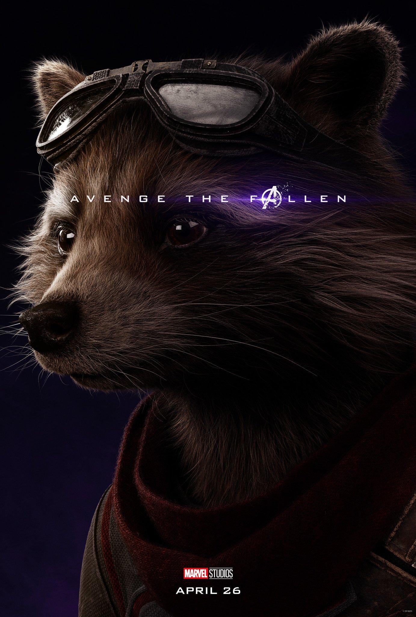 Avengers: Endgame, il character poster di Rocket